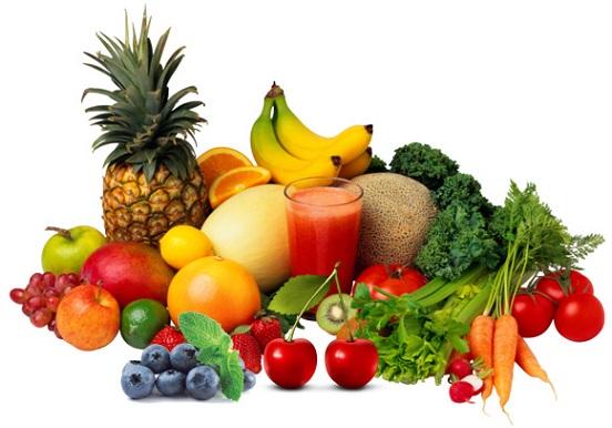 фрукты и овощи для здоровья, продукты для волос