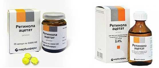 ретинола ацетат применение и маски для волос