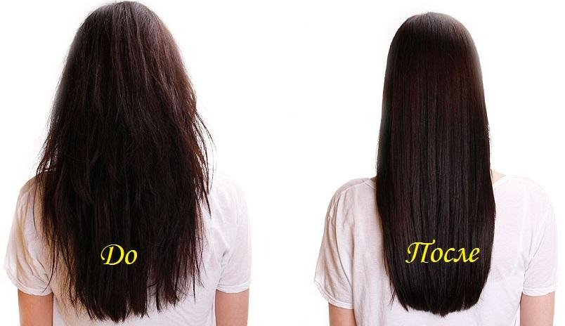 шампуни для выпрямления волос в домашних условиях, выпрямление волос до и после фото