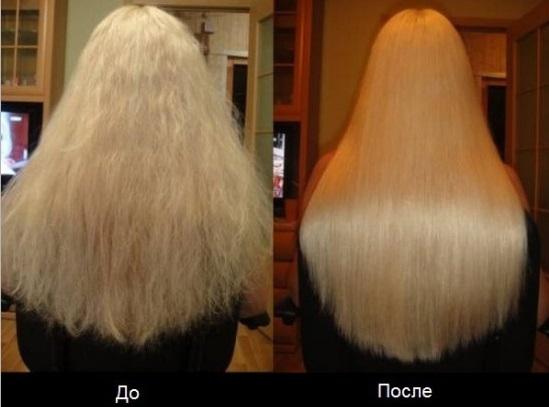 кератиновое выпрямление волос, кератин для волос