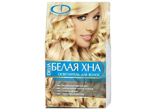 белая хна для волос, применение белой хны