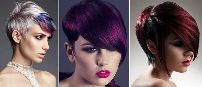креативное окрашивание коротких волос фото