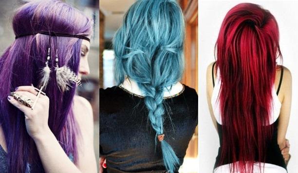 применение временной краски для волос фото