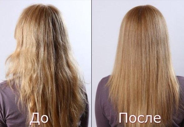 рецепт ламинирование волос желатином, фото до и после