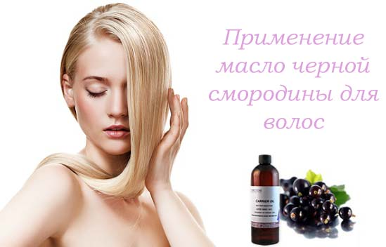 масло черной смородины против выпадения и роста волос