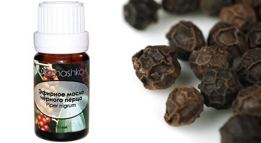 эфирное масло черного перца, цена на масло черного перца, масло из черного перца для волос