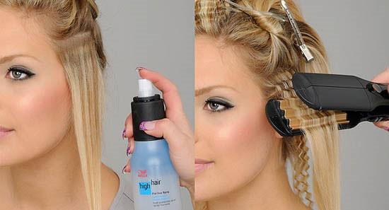 гофре для волос прически фото