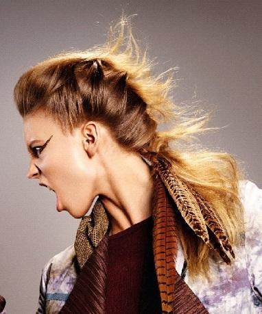 завивка на длинные волосы, гранж стиль