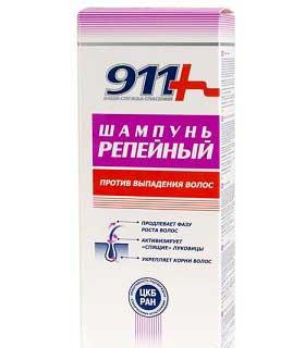 шампунь 911 репейный против выпадения волос, фото